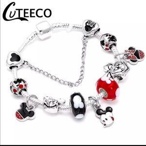 Jewelry - 20cm New Mickey and Minnie Mouse Charm Bracelet